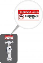 ADESIVO ECONOMIZE ÁGUA DE 3 X 6 CM - EMBALAGEM COM 05 UNDS