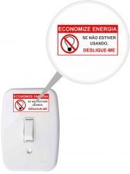 ADESIVO ECONOMIZE ENERGIA DE 3 X 6 CM - EMBALAGEM COM 5 UNDS
